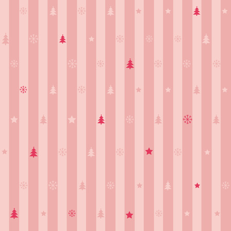 christmas backdrop: Seamless pink stripe pattern of christmas ornament for wallpaper, backdrop background banner or wrapping paper gift.