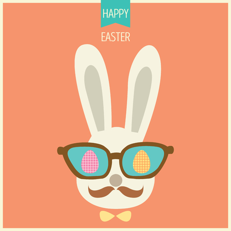 animal; april; background; banner; border; bunny; card; cartoon; celebration; character; children; christianity; colorful; concept; cute; day; design; drawing; ears; easter; eggs; eyes; face; flat; funny; gift; greeting; happy; hipster; holiday; hunt; ico