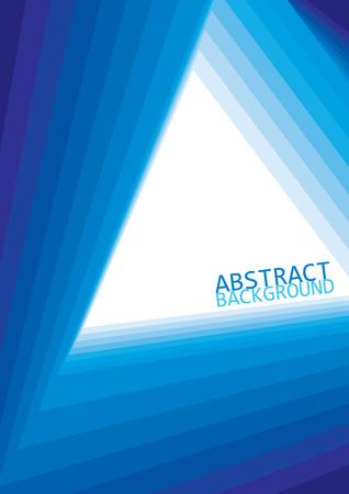 Conception de fond de vecteur avec la teinte et l'ombre du triangle bleu Vecteurs