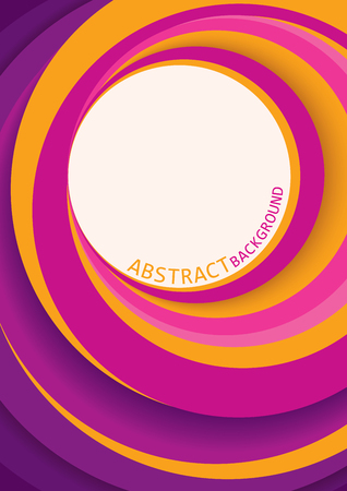 Vector abstract background design with circle of pink,purple,magenta,violet and yellow colors.
