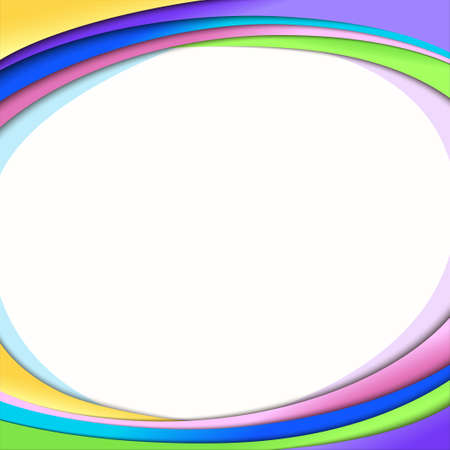 Rainbow colorful frame background template Vector Illustration