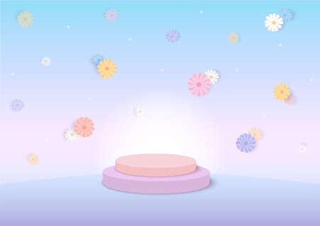Daisy flowers spring season 3d background