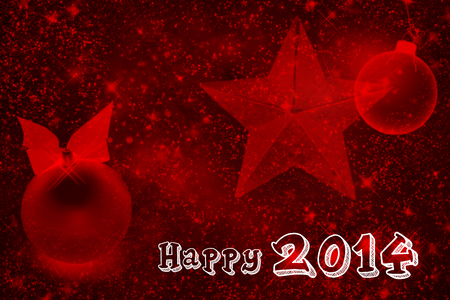 Gorgeous, Happy New Year 2014 on a abstract star speckled background photo