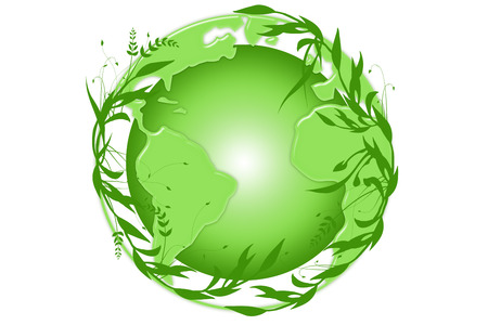 planisphere: Green Earth Stock Photo