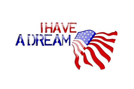 나는 꿈이있다 - 마틴 루터 킹 스톡 콘텐츠