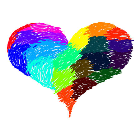 Colorful Love Stock Photo