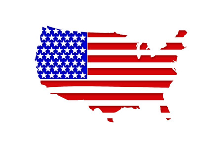 USA Flag Map Stock Photo - 25030673