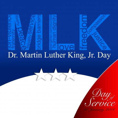 non violence: MLK, Patriotic background, Martin Luther King Stock Photo