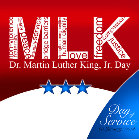 MLK, Patriotic background, Martin Luther King Stockfoto
