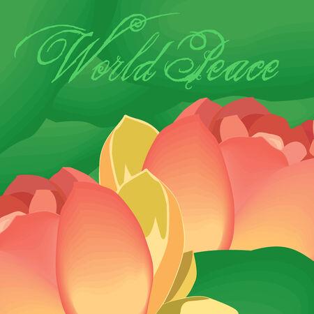 paz mundial: Las flores de loto marca la paz mundial
