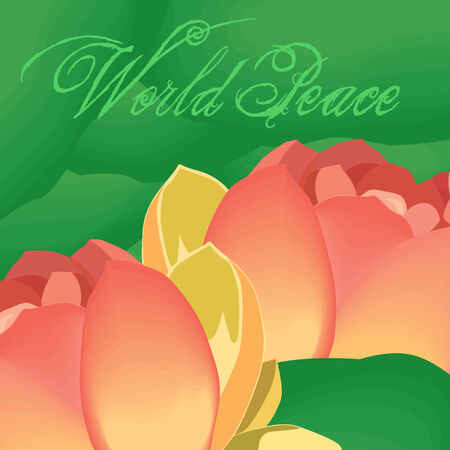 mutual help: The lotus flowers denotes world peace