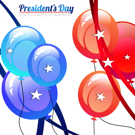 President Day background with red, white and blue colors photo