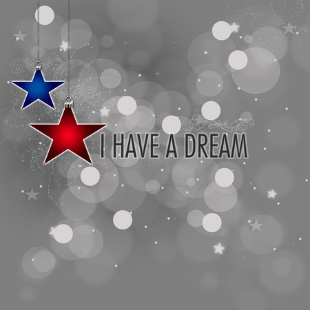 私は MLK で有名な引用 - 夢を持っています。 写真素材