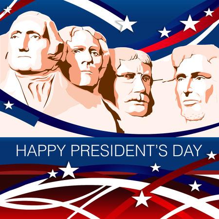 gewerkschaft: Mount Rushmore-Präsident Day Patriotischen Hintergrund Lizenzfreie Bilder