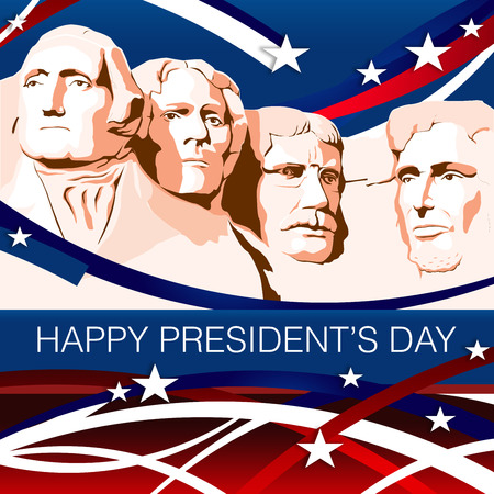 presidents' day: Mount Rushmore-President Day Patriotic Background