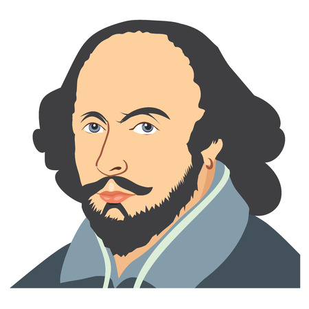literary characters: Illustration of William Shakespeare