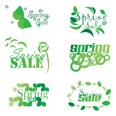 new product on sale: Six Spring Sale Mnemonics Stock Photo