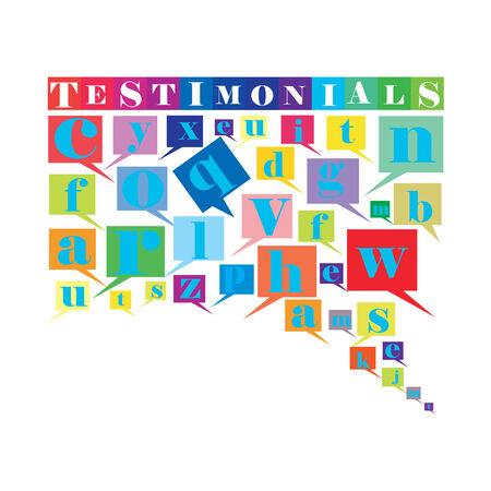 An abstract illustration of Testimonials