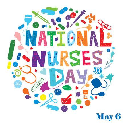 Nationale Dag van Verpleegsters Stockfoto