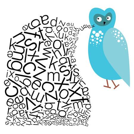 말하기 올빼미 - 교육의 경계를 확장 스톡 콘텐츠