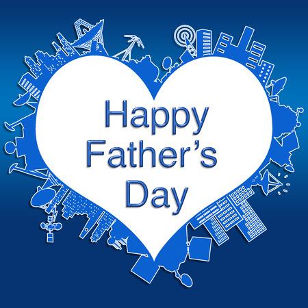 папа: Счастливый отец с День Фото со стока