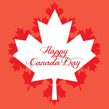 Happy Canada Day Stock Photo