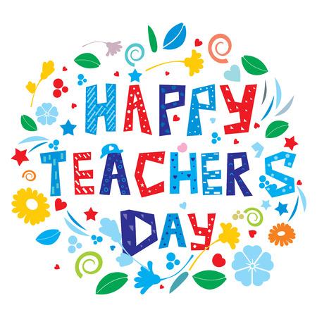 Happy Teacher's Day Banque d'images