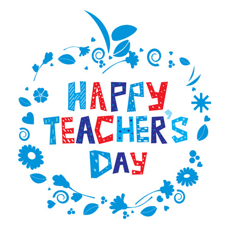 Happy Teachers Day Banco de Imagens
