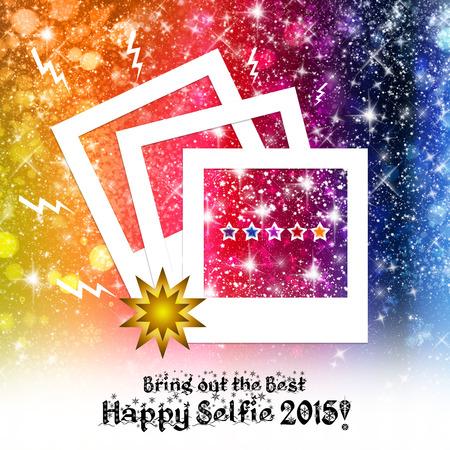 scintillating: Selfie New Year 2015 Stock Photo