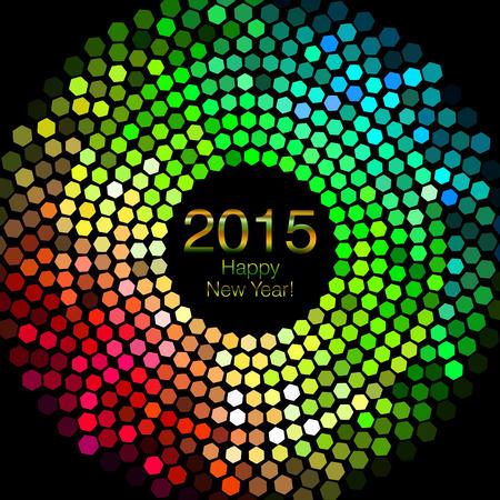 Gelukkig Nieuwjaar 2015 - Hexagon Disco verlichting