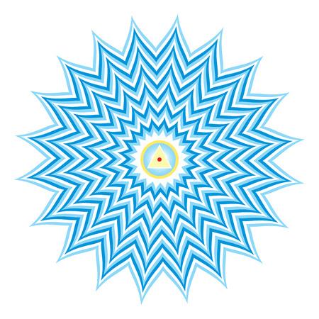 chakra: Sahasrara - thousand-petaled or Crown Chakra is the 7th Primary Chakra Stock Photo