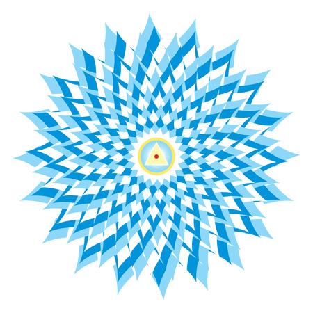 aura energy: Sahasrara - thousand-petaled or Crown Chakra is the 7th Primary Chakra Stock Photo