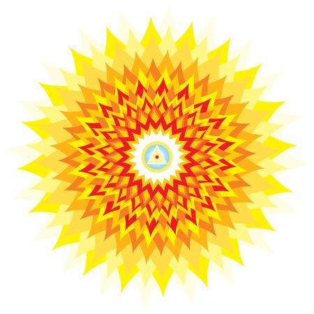 sahasrara: Sahasrara - thousand-petaled or Crown Chakra is the 7th Primary Chakra Stock Photo