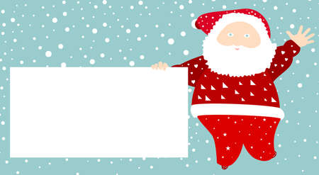 discount banner: Santa Claus holding a white message board