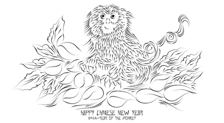 stroke of luck: Chinese New Year Greeting Card