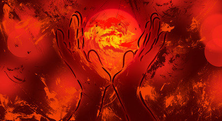 heart chakra red: Offering Fire