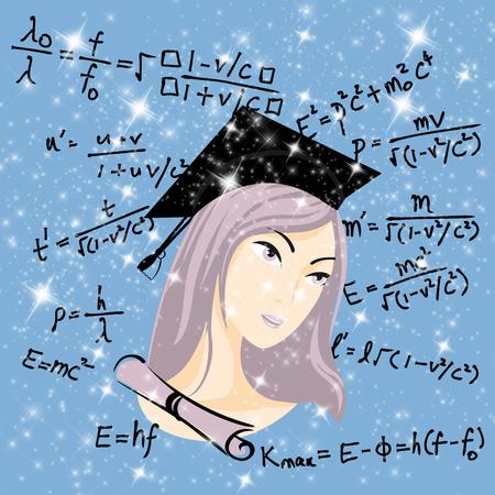 baccalaureate: Genius Girl Stock Photo