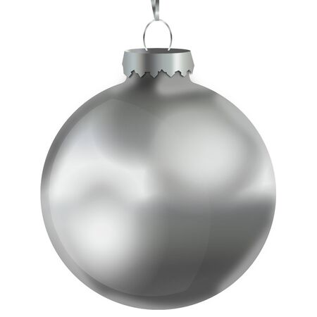 silver: Christmas Bauble