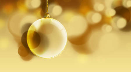 blissful: Bauble on a gold background
