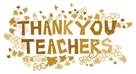 Thank You Teachers Banco de Imagens - 49032949