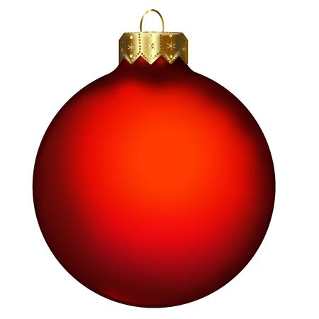red christmas ball: Single Christmas Bauble
