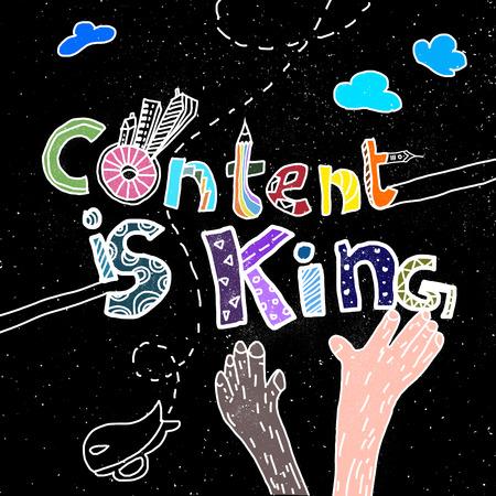 콘텐츠가 왕이다 스톡 콘텐츠