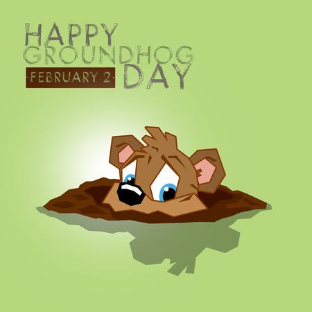 woodchuck: Happy Groundhog Day Stock Photo