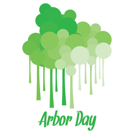 arbor: Long stemmed tree like structures with circles for Arbor day