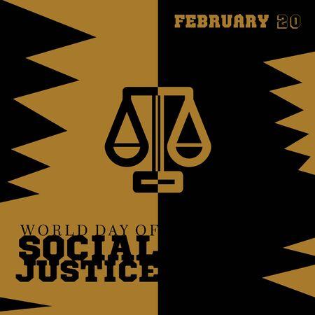 世界社会正義の日の抽象的なイラスト 写真素材