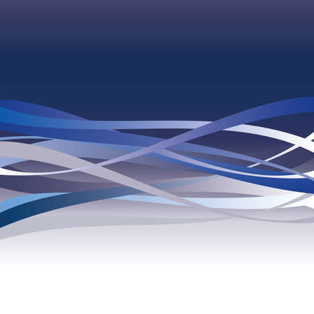 blue border: Blue abstract wave background