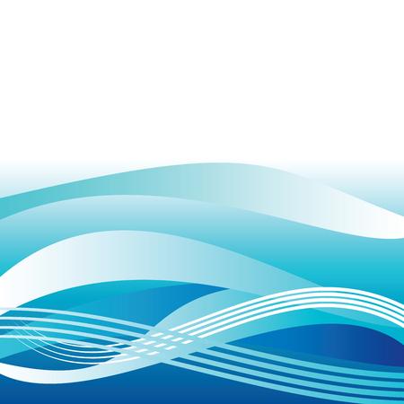 lineas decorativas: Blue resumen ola de fondo