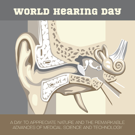 malleus: An illustration to create awareness on World Hearing Day
