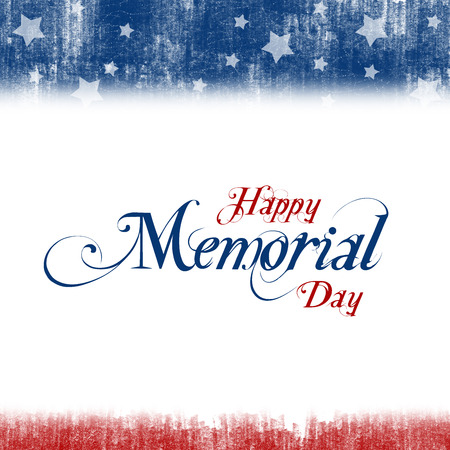 red white and blue: A header footer illustration with United States flag colors on Memorial Day Stock Photo
