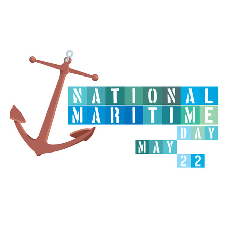 maritime: An abstract illustration on National Maritime Day with an anchor symbol